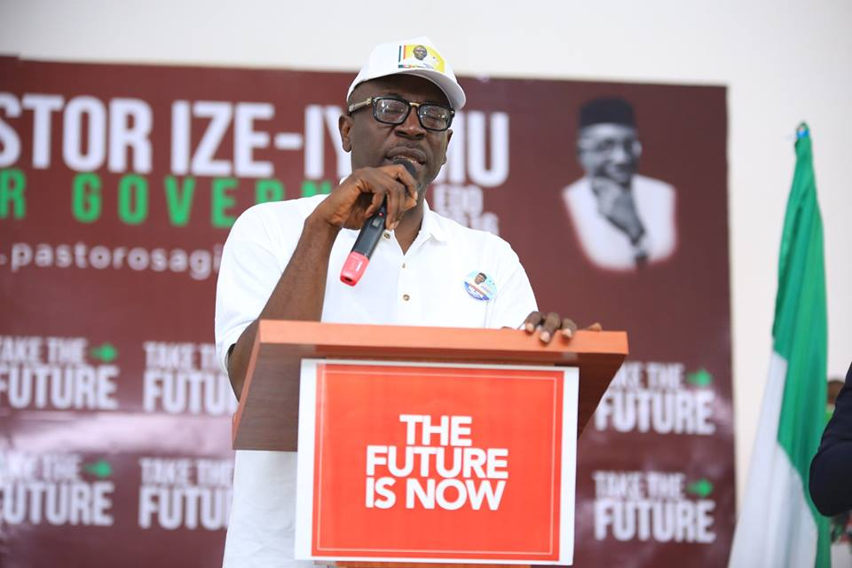 #TakeTheFuture: Pastor Ize-Iyamu formally declares to run