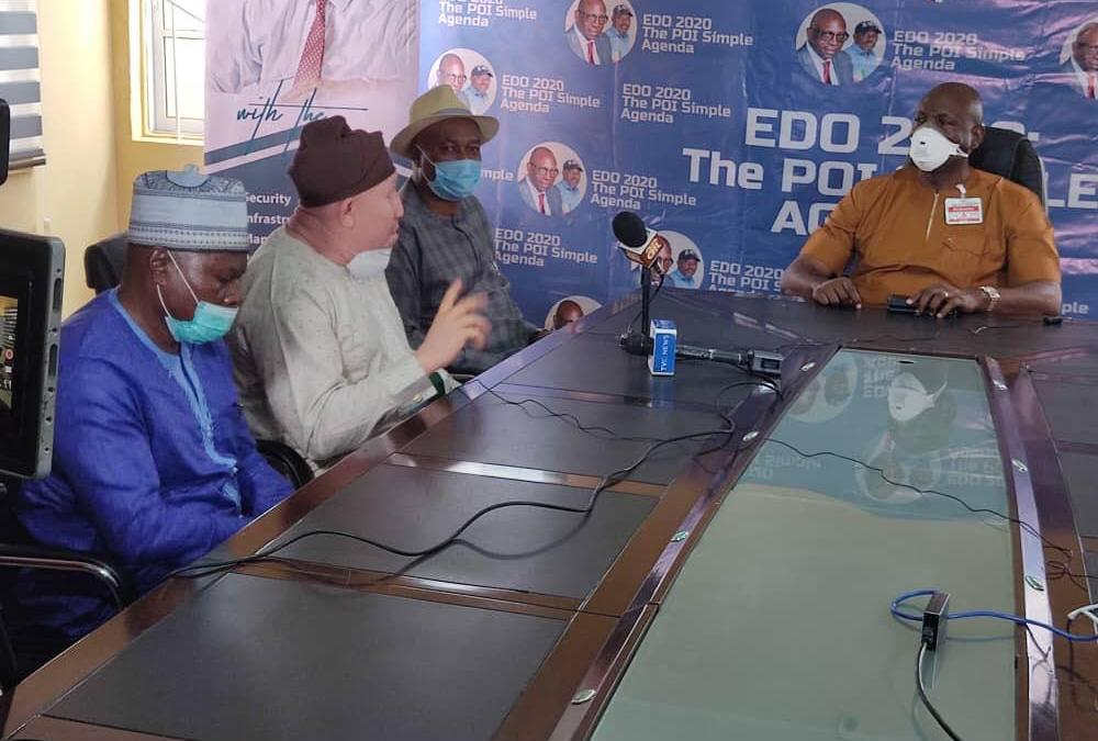 Resigned Edo Oil and Gas Commissioners visit Ize-Iyamu, condemn Obaseki over deception, fraud