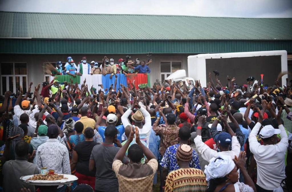 Edo 2020: Ize-Iyamu's campaign off to a bright start in Esan land as thousands throng campaign venues …sea of heads at Igueben, Ubiaja, and Uromi