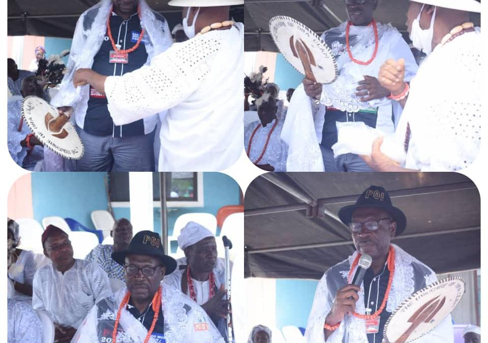 Edo 2020: Ize-Iyamu bags another honorary title in Ora, named 'the one who will wipe our tears'