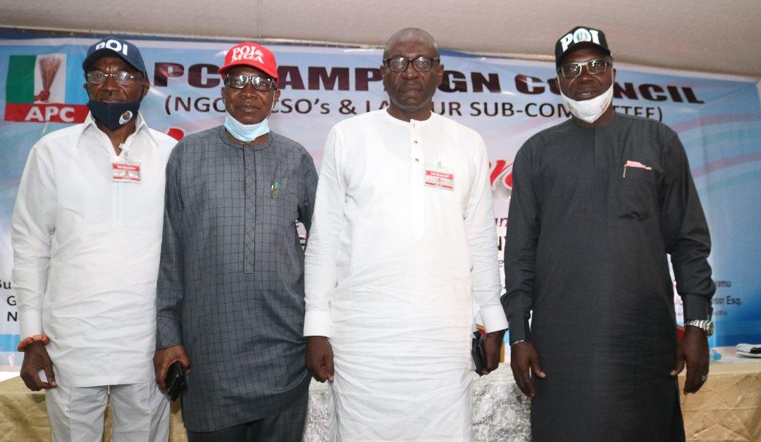 APC chieftains storm Benin, organise mega summit for Ize-Iyamu