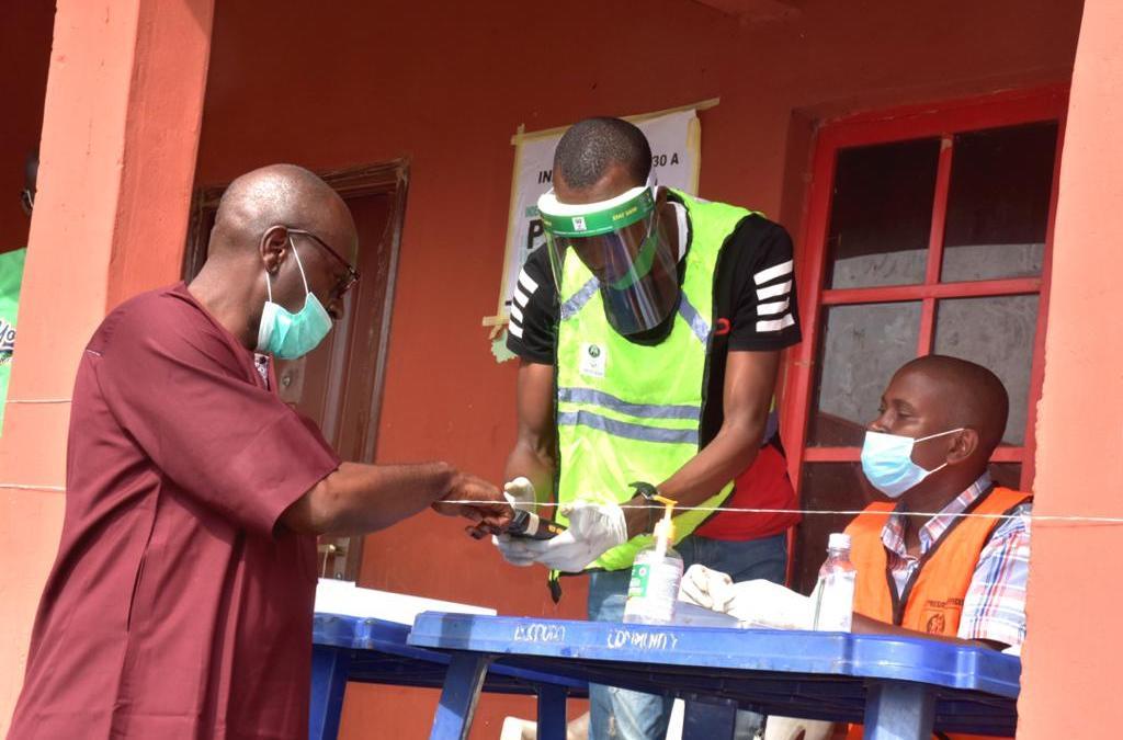 Ize-Iyamu casts vote, expresses optimism of winning